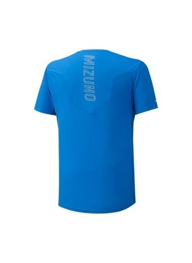 Mizuno Aero Tee Erkek T-Shirt Mavi Mavi